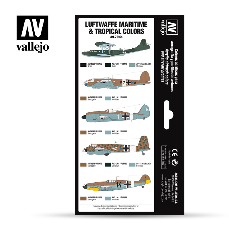 Vallejo 71.164 - Aircraft Colour Schemes