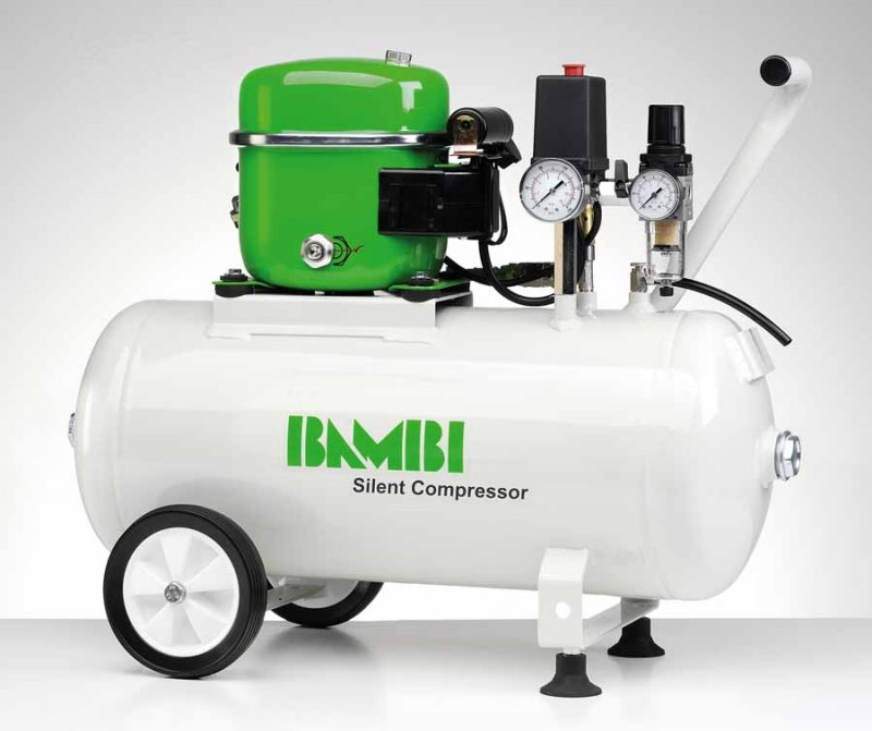 Bambi BB24 Silent Compressor with wheel kit