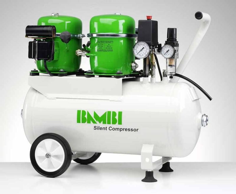 Bambi BB24D Silent Compressor with wheel kit