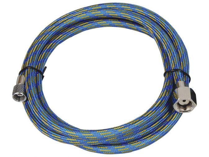 "Highly Flexible 3.0 Metre Braided Rubber Air Hose - 1/4""BSP to 1/8""BSP-0"