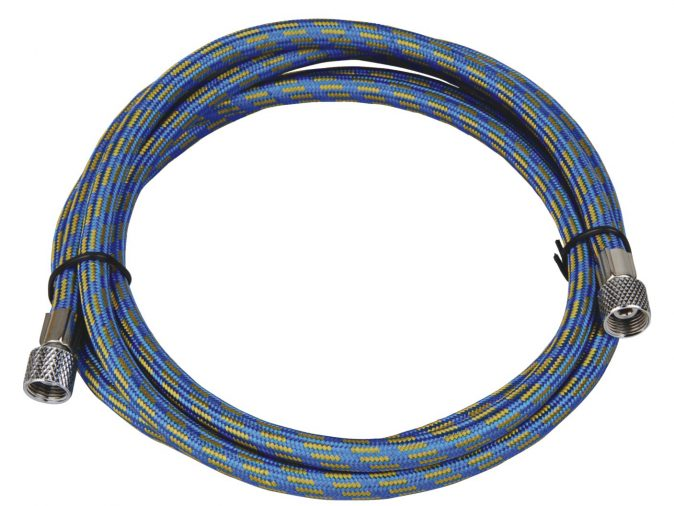 "Highly Flexible 1.8 Metre Rubber Braided Air Hose - 1/8""BSP to 1/8""BSP-0"