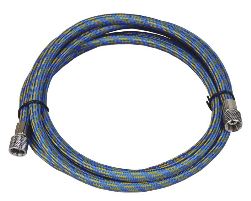 "Highly Flexible 3.0 Metre Rubber Braided Air Hose - 1/8""BSP to 1/8""BSP-0"