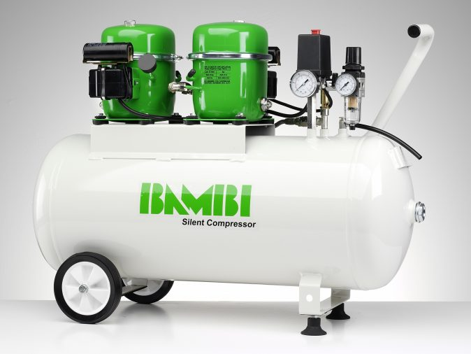 Bambi BB50D Silent Compressor with Wheel Kit-0