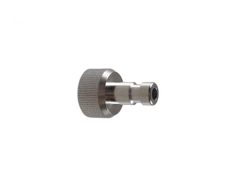 "Plug in Nipple, nd 2.7mm to 1/8"" Chrome"