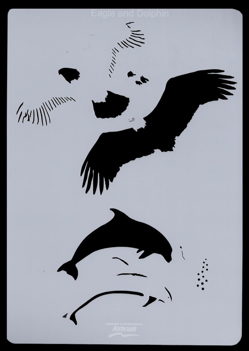 Animals (Eagle & Dolphin) Stencil