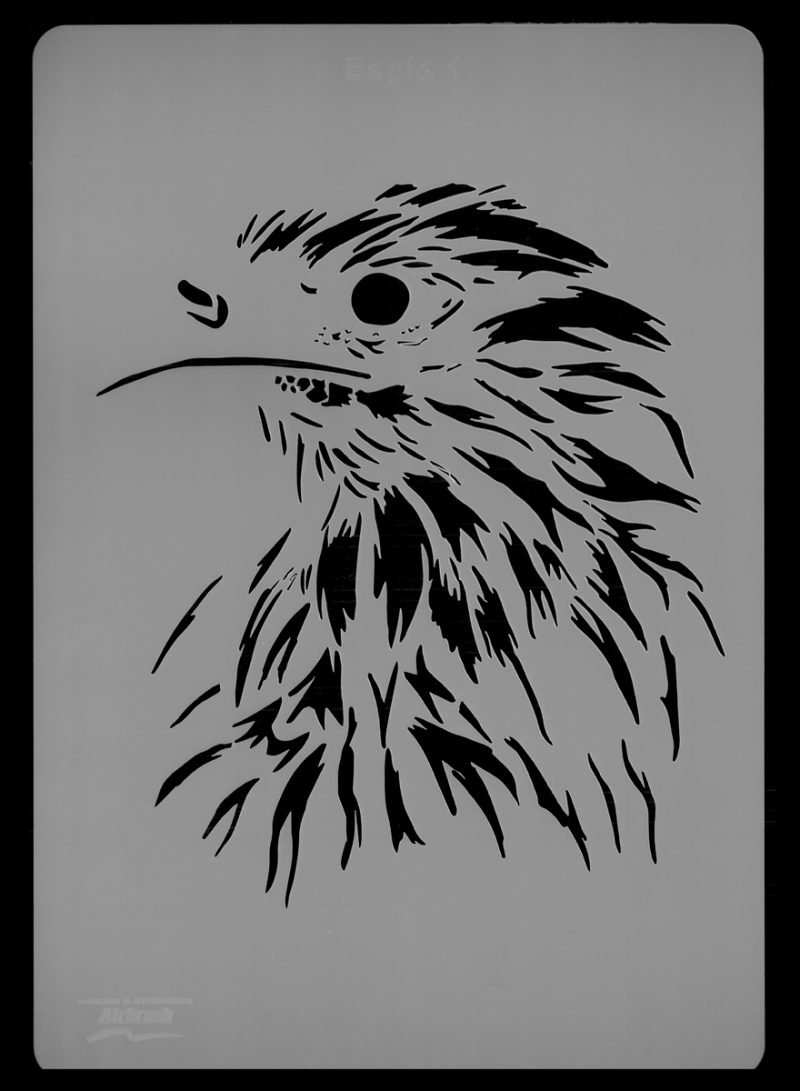 Eagle Wildlife Stencil 1