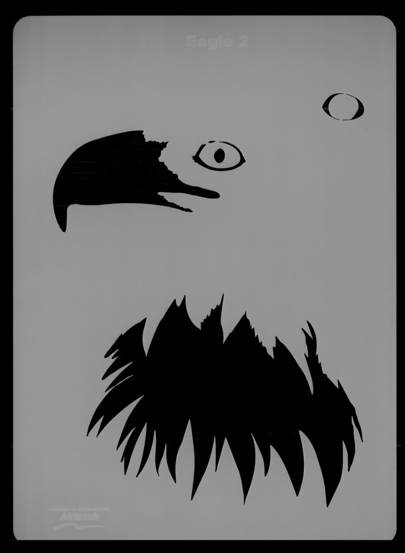 Eagle Wildlife Stencil 2