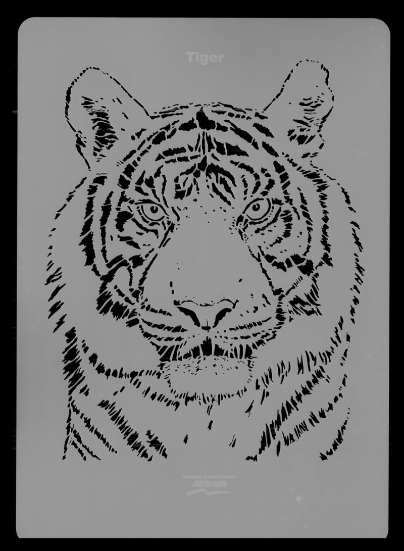 Tiger Wildlife Stencil