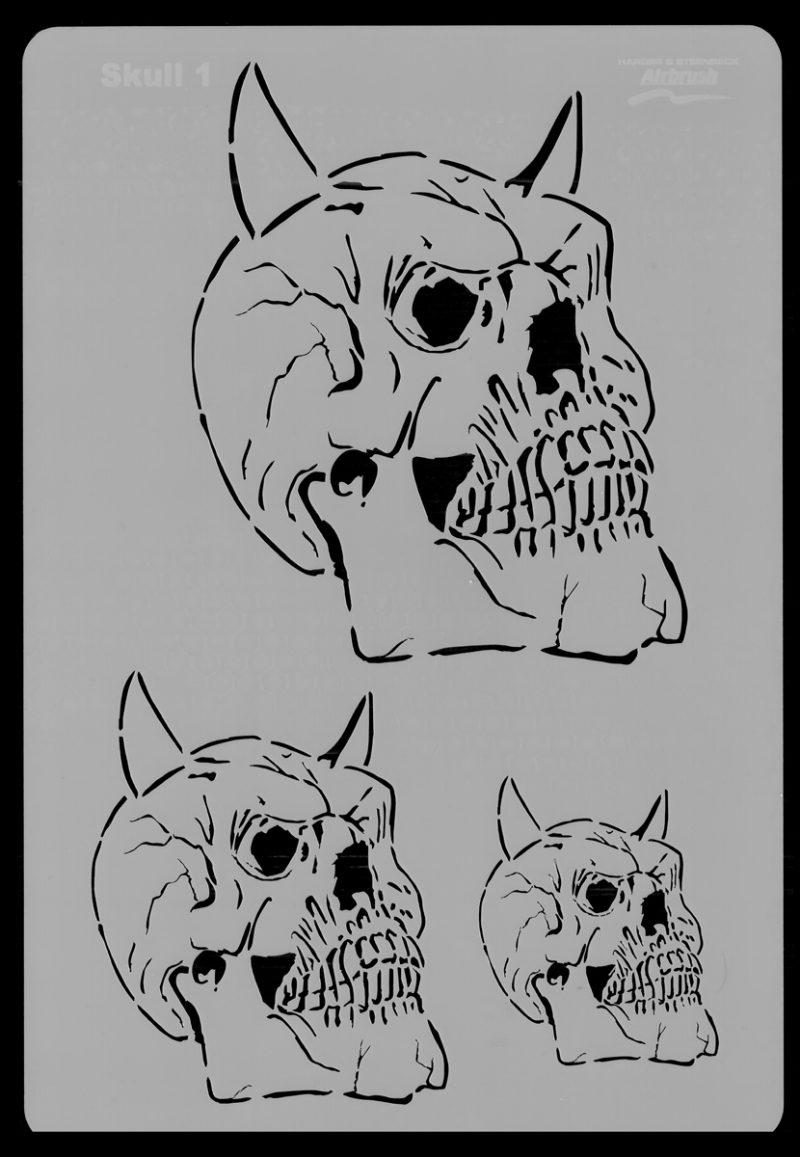 Skull Set Stencil 1