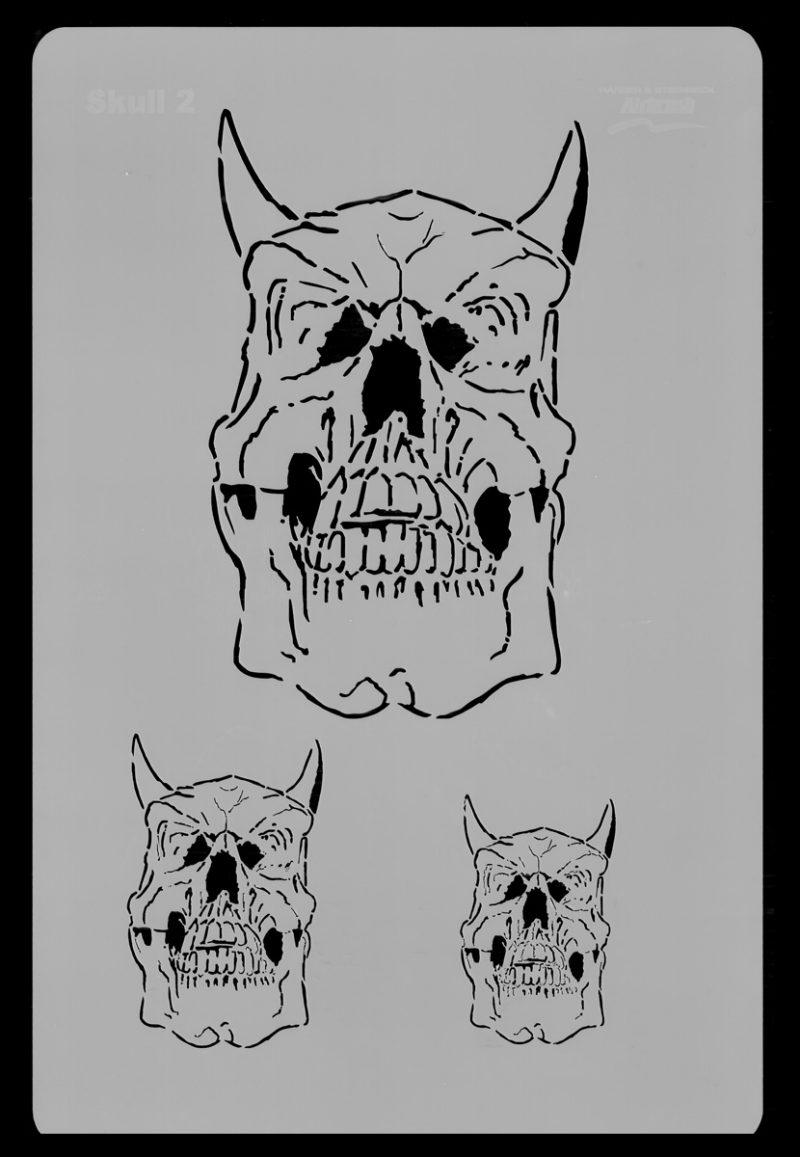 Skull Set Stencil 2