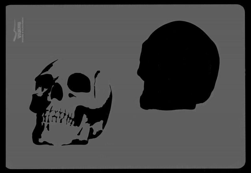 Skull Set 2 Stencil