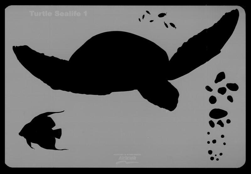 Turtle Sea Life Stencil 1
