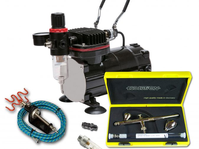 TC-802 Airbrushing Kit With Evolution 2 in 1 Airbrush-0