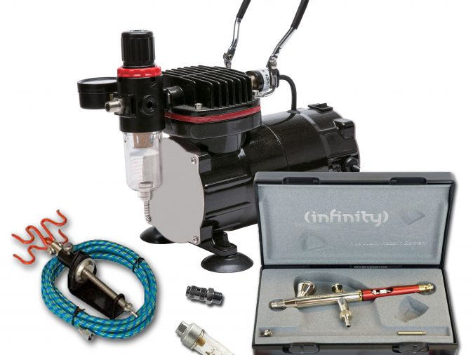 TC-802 Airbrushing Kit With Infinity Solo Airbrush-0