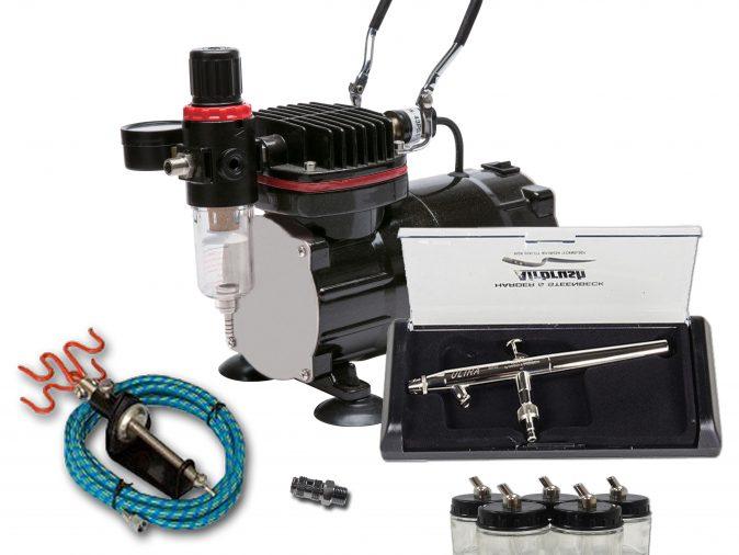 TC-802 Airbrushing Kit With Ultra X Airbrush-0