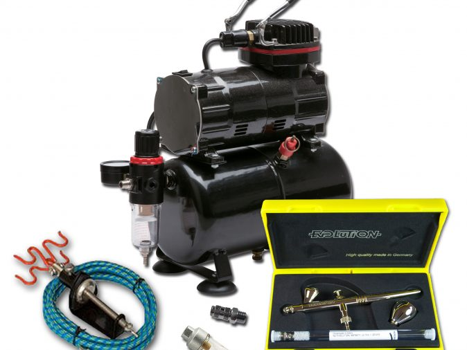 TC-80T Airbrushing Kit With Evolution 2 in 1 Airbrush-0