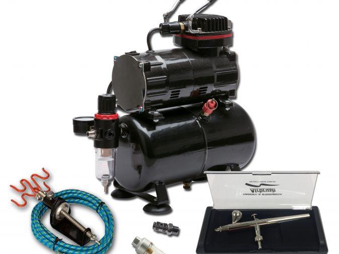 TC-80T Airbrushing Kit With Ultra Airbrush-0