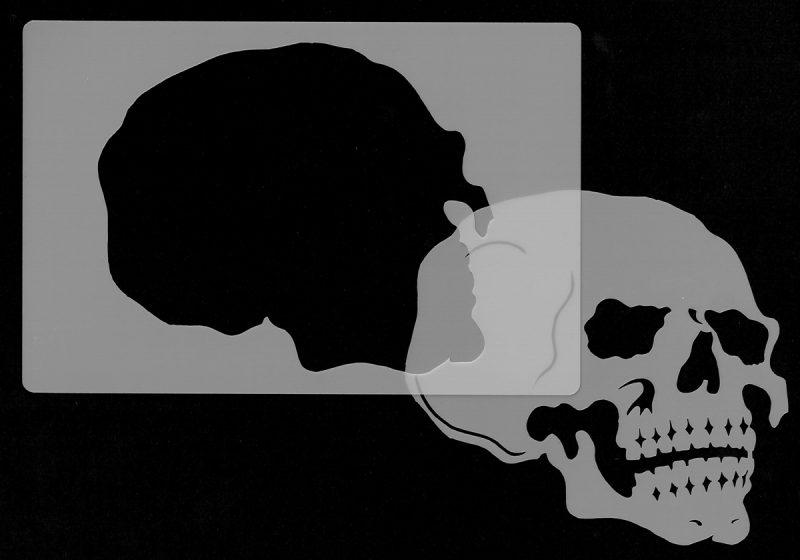Skull Head - Stencil 2-0