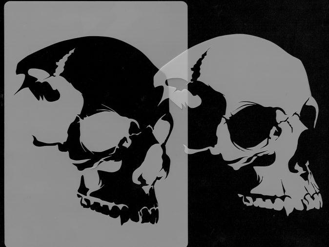 Skull Head - Stencil 6-0