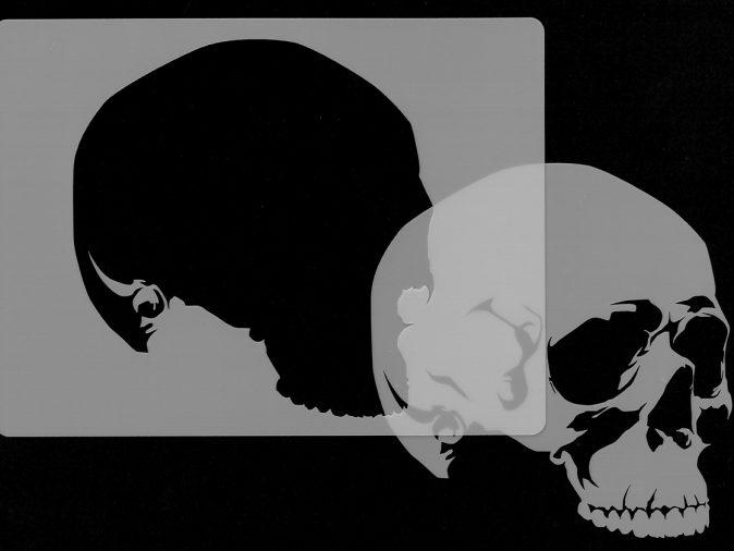 Skull Head - Stencil 3-0