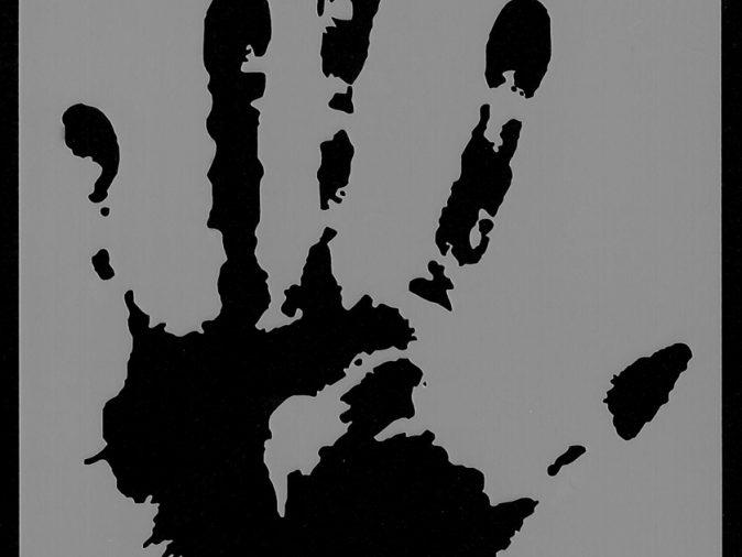 Hand Print Stencil -0