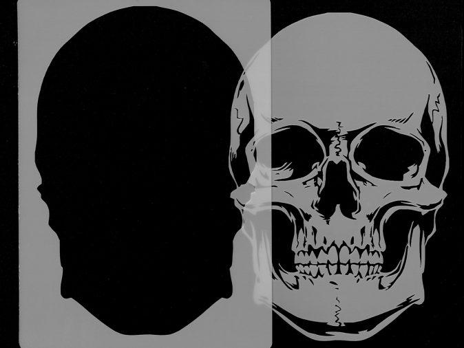 Skull Head - Stencil 1-0