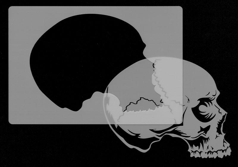 Skull Head - Stencil 4-0