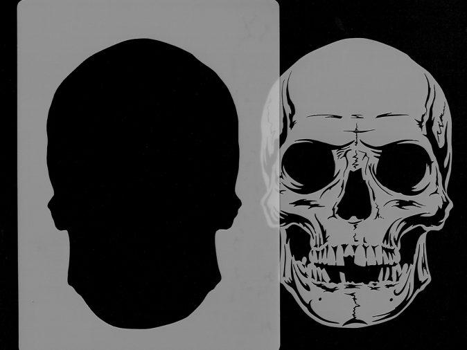 Skull Head - Stencil 5-0