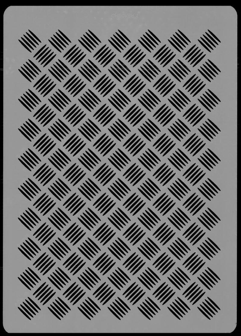 Checker Plate Stencil
