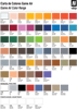 Game Air Color Chart