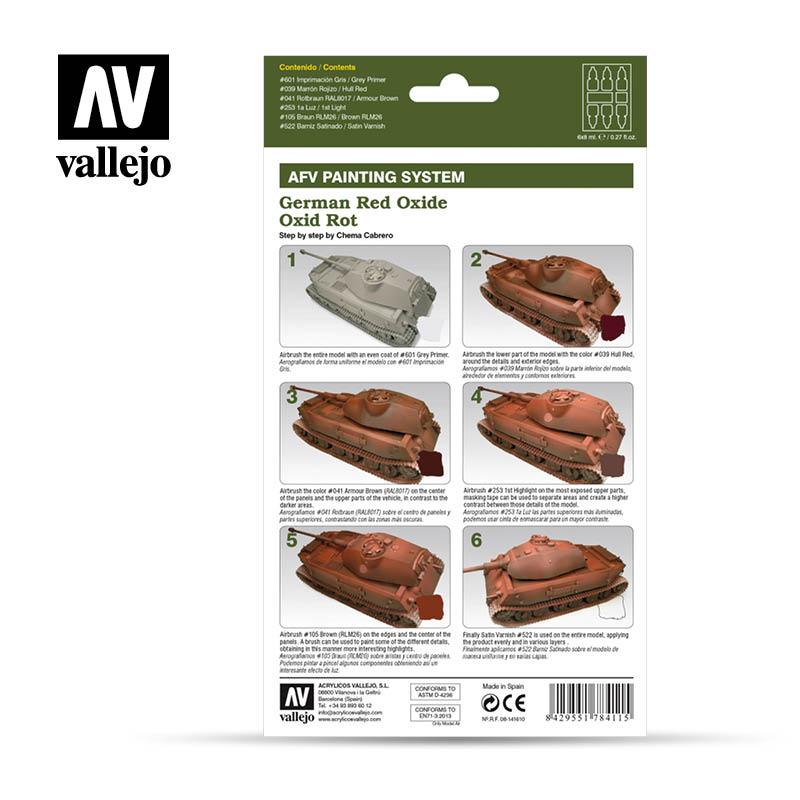 Vallejo AFV Armour Set - German Red Oxide - 78411-5216