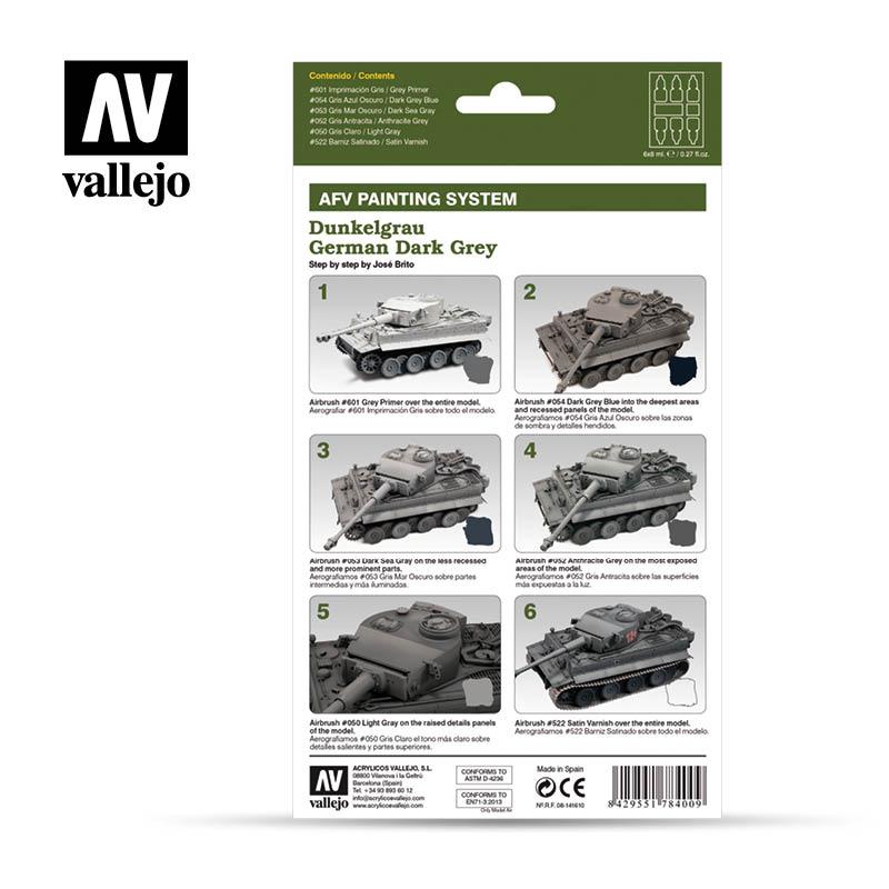 Vallejo AFV Armour Set - German Dark Grey - 78400-5215