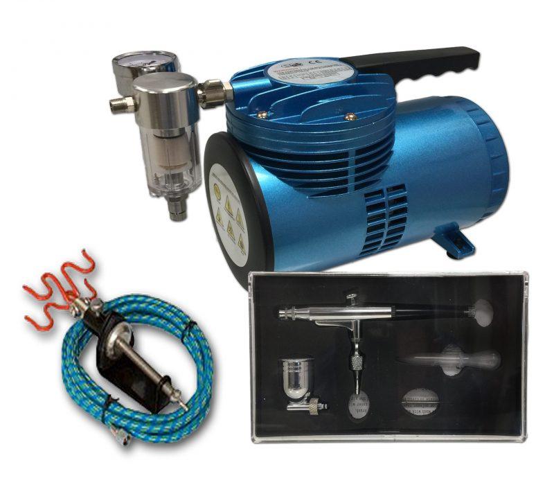 AS-06 Mini Diaphragm Compressor & AB-132 Airbrush Starter Kit-0