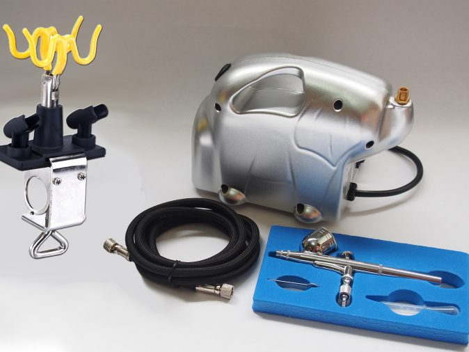 AB-130A Airbrush & Baby Panda Compressor Kit-0