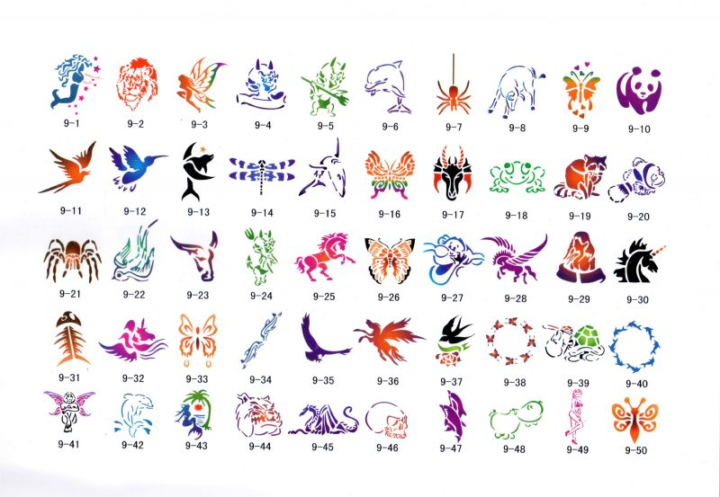 Stencil Book Nine - Designs 1-50
