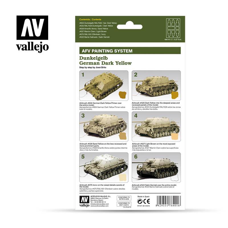Vallejo AFV Armour Set - German Dark Yellow - 78401-5205