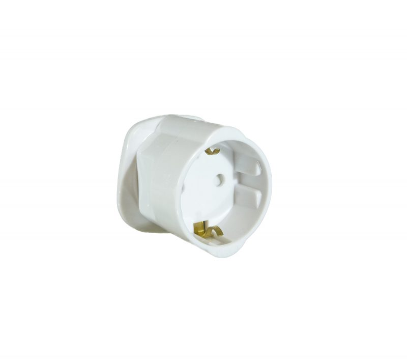 European Plug to UK Mains Adaptor