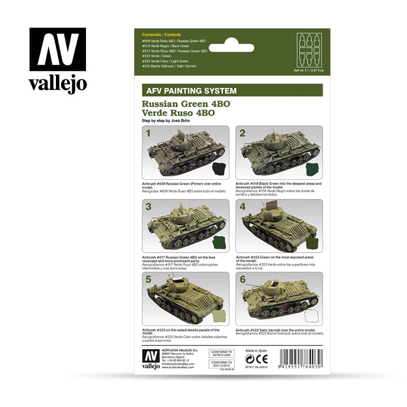 Vallejo AFV Armour Set - Russian Green 4BO - 78403-5210