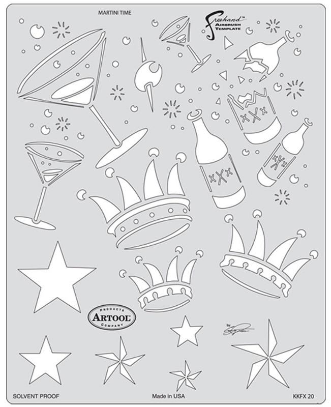 Artool Stencil - Kustom Kulture - Martini Time-0