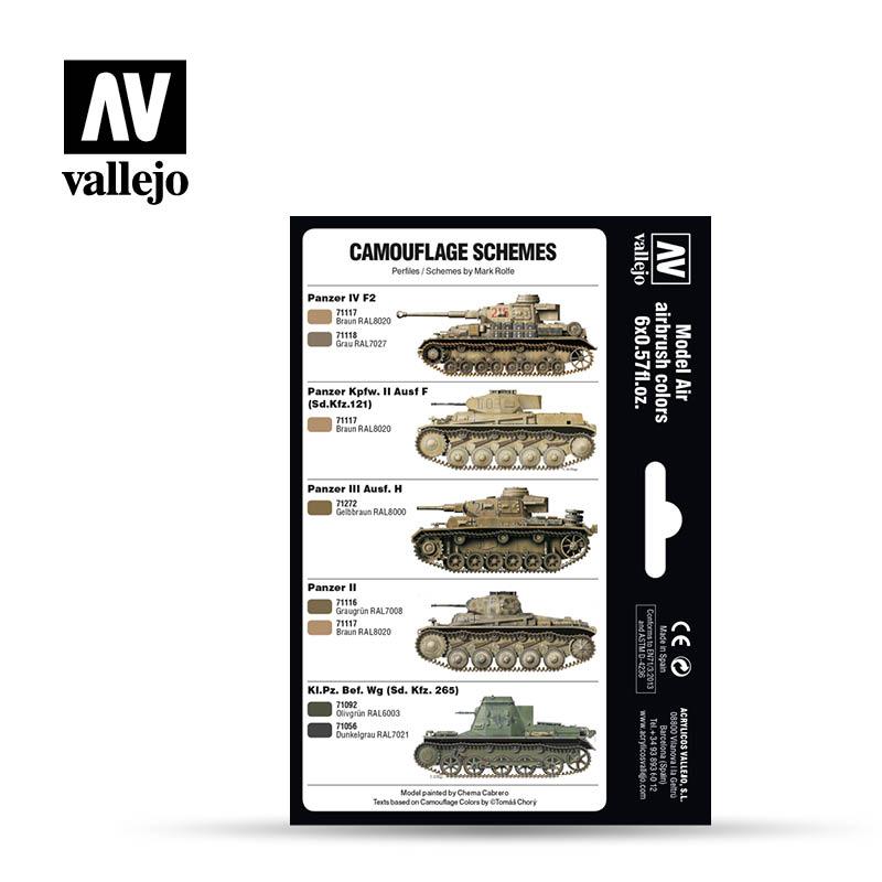 Vallejo Model Air Paint Set - DAK Colors 1941-1944 - 71207-5167