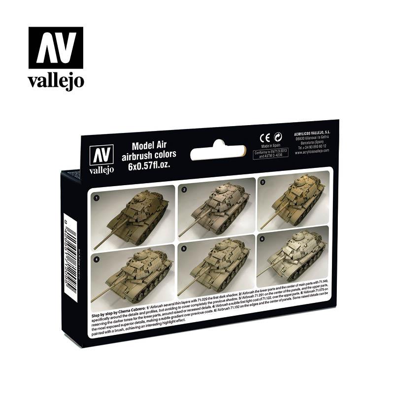 Vallejo Model Air Paint Set - US Modern Desert Colors - 71209-5168