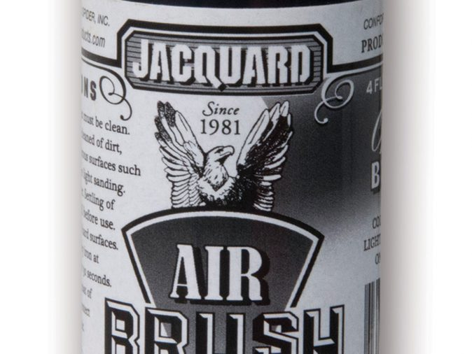 Jacquard Airbrush Color Paint - Opaque Black (4oz)-0