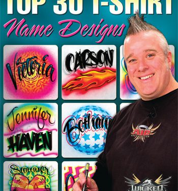 Airbrush Action DVD - Top 30 T-Shirt Name Designs with Gary Worthington-0