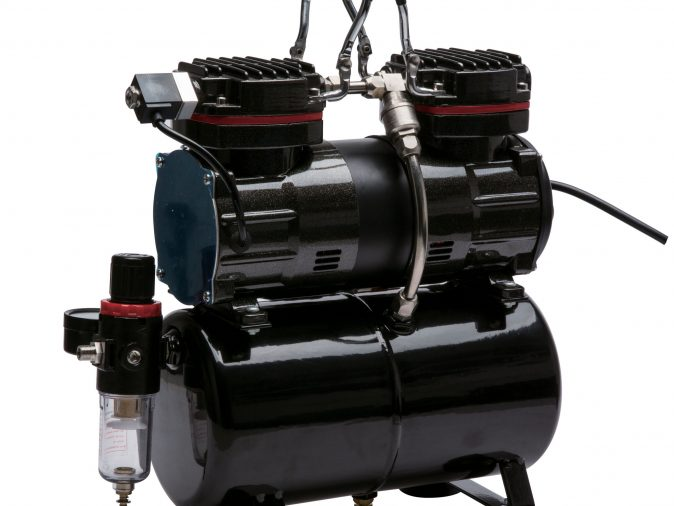 Royal Max TC-90T Twin Piston Airbrush Compressor with 3 Litre Air Receiver and Dual Pressure Switch-0